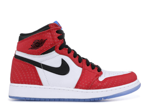 "AIR JORDAN 1 RET HI OG (GS) ""SPIDERMAN"" 575441 602 ."