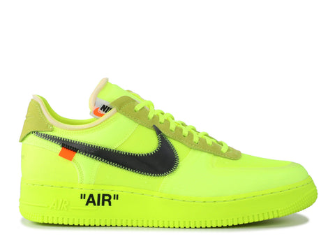 "THE 10: NIKE AIR FORCE 1 LOW OFF WHITE ""VOLT"" AO4606 700"