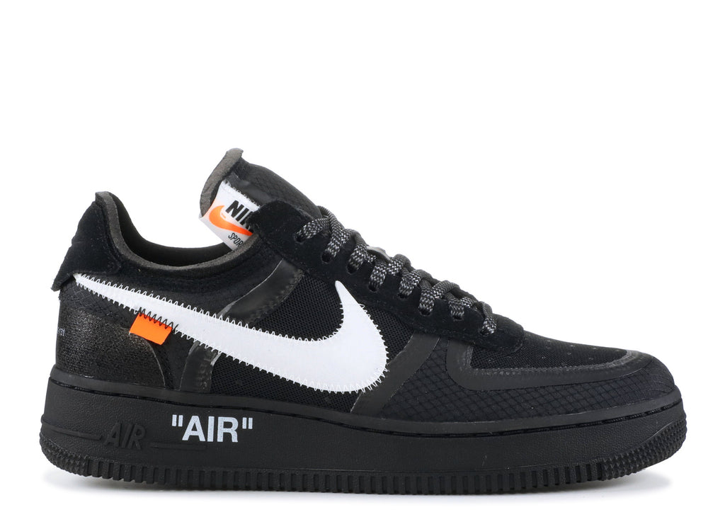 "THE 10: NIKE AIR FORCE 1 LOW OFF WHITE ""BLACK"" AO4606 001"