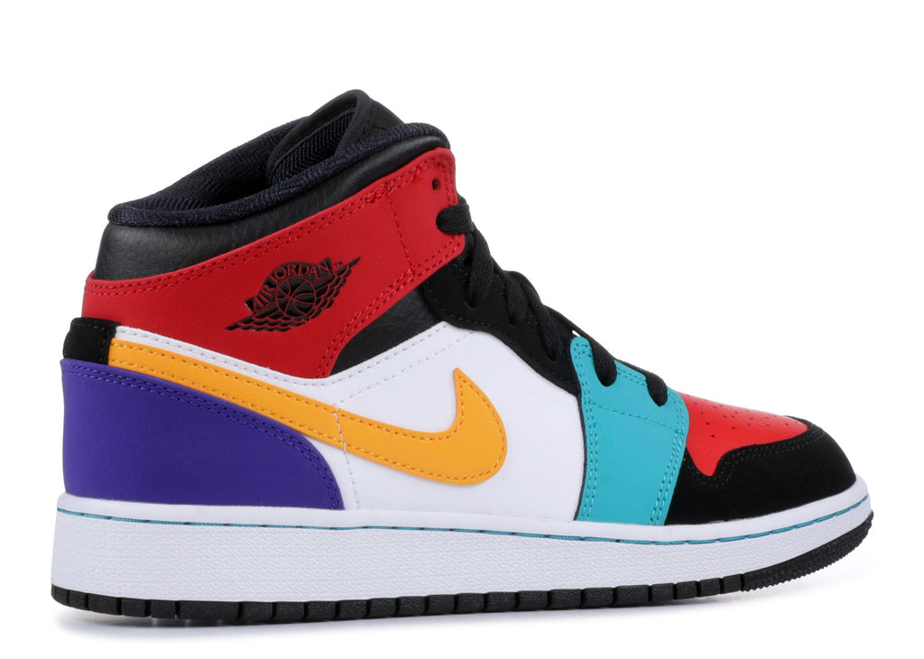 "Air Jordan 1 Mid GS ""MULTI COLOR"" 554725 125"