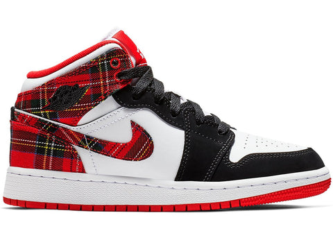"Air Jordan 1 Mid ""White Plaid"" 554725 607"