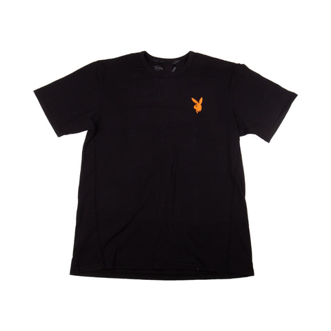 "VLONE ""PLAYBOY ORANGE"" BLACK TEE"