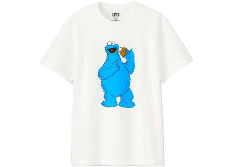 "KAWS x Uniqlo x Sesame Street ""Cookie Monster Tee White"""