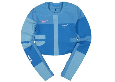 OFF-WHITE x Nike Women's Easy Run Top Photo Blue