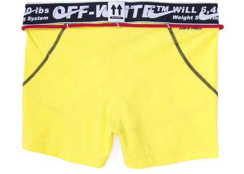 "OFF-WHITE x Nike Women's Training Shorts ""YELLOW"""