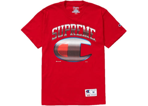 Supreme Champion Chrome Tee Red