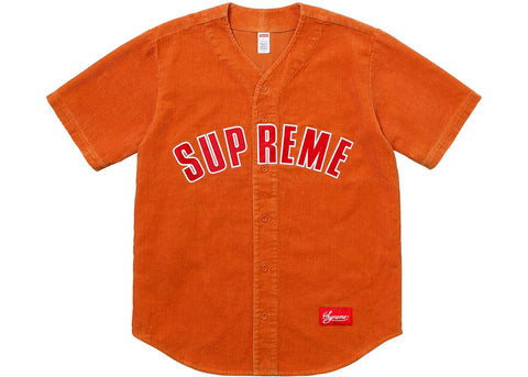 Supreme Corduroy Baseball Jersey Orange