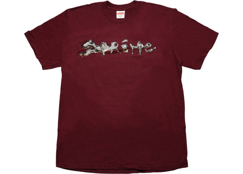 Supreme Liquid Tee Burgundy
