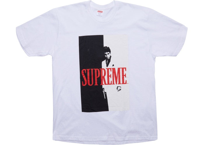 "Supreme ""Scarface Split"" Tee White"