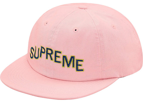 "Supreme ""Stepped Arc"" 6-Panel Light Pink"