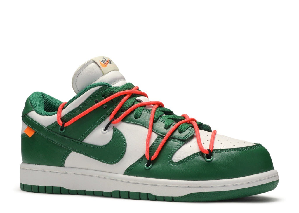 "Off-White x Nike Dunk Low ""Pine Green""  CT0856 100"