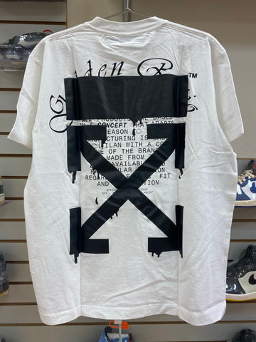 OFF WHITE dripping arrows white black tee (over fit)