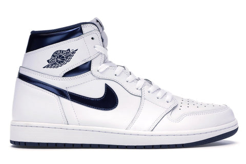 "AIR JORDAN 1 RETRO HIGH OG ""METALLIC NAVY"" 555088 106"