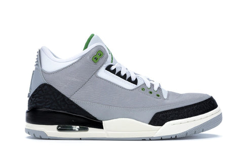 "Air Jordan 3 Retro ""CHLOROPHYLL"" PRE-OWNED ."