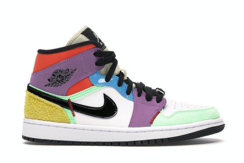 "Air Jordan 1 Mid """"SE MULTI-COLOR"" CW1140 100"