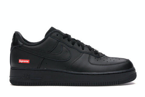 "Nike Air Force 1 Low X Supreme ""BLACK"" Cu9225 001"