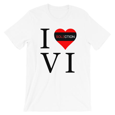 I Love VI Unisex Short Sleeve Jersey T-Shirt