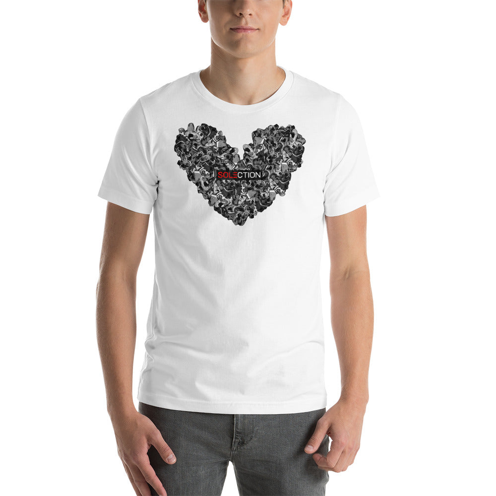 Love For Jordans Short Sleeve Jersey T-Shirt with Tear Away Label - Black Box Logo