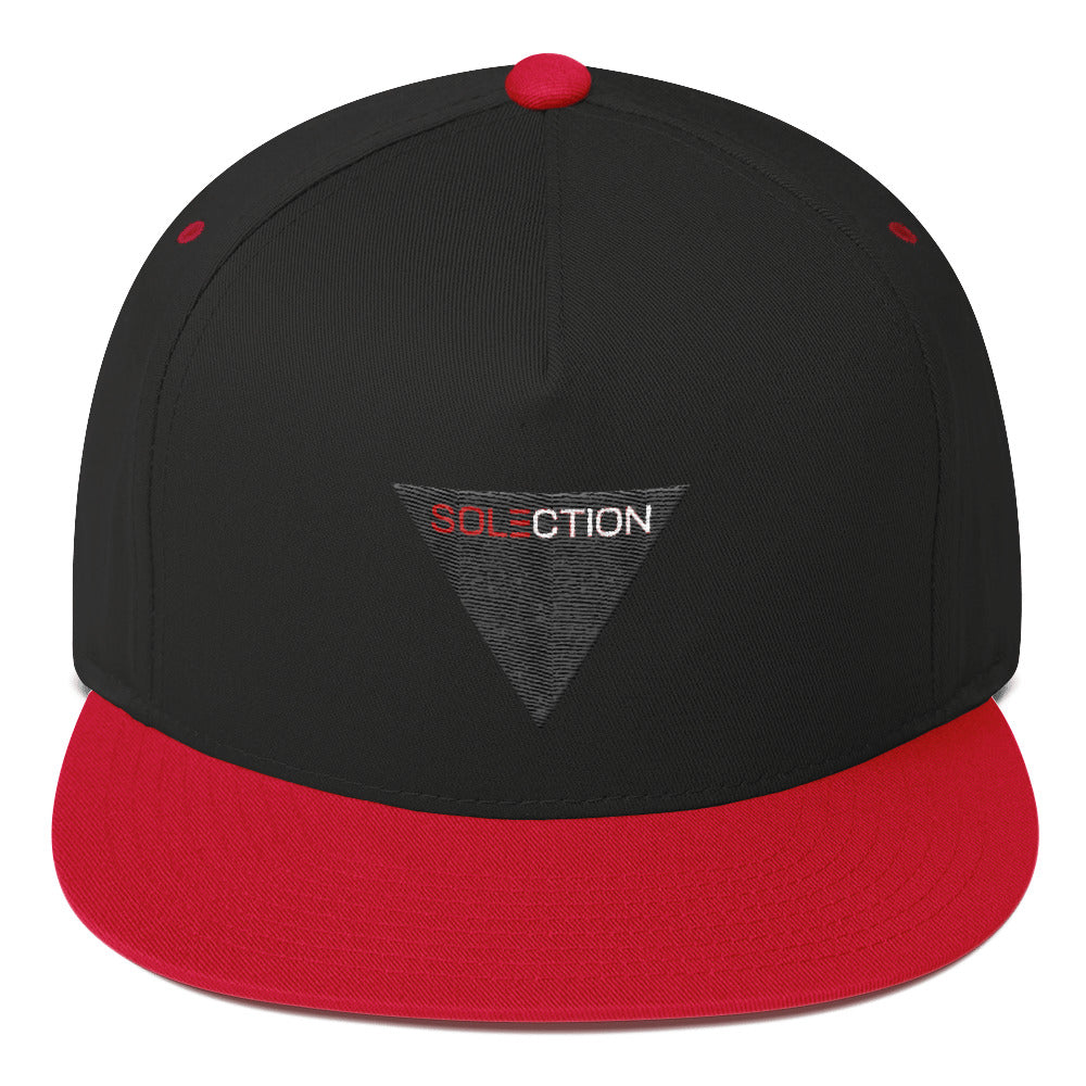 Solection Black Logo Flat Bill Cap