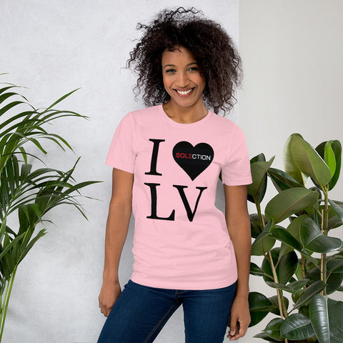 I Love LV - Ladies Short Sleeve Jersey T-Shirt