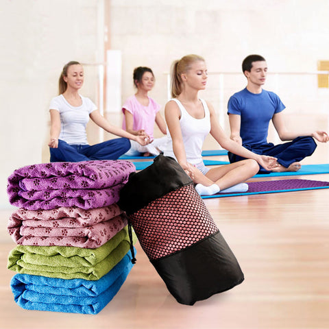 Non Slip Exercise Mat Cover Towel