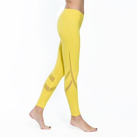 Sleek Leggings with Mesh Cutouts
