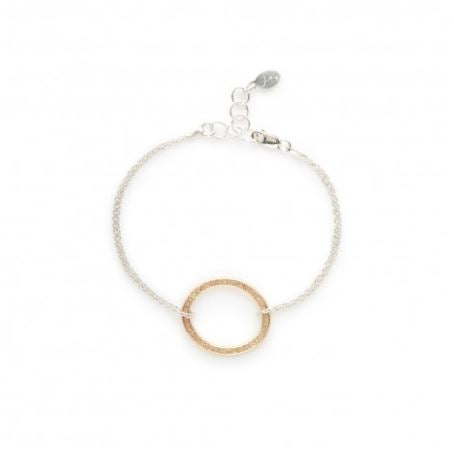 Two Tone Oval Chain Bracelet
