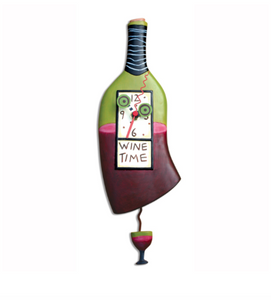 Allen Designs Studio Wine Time Clock