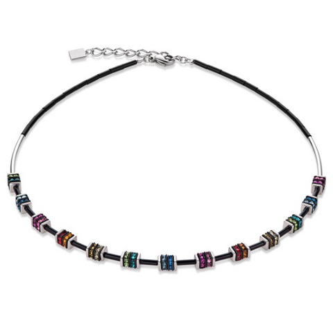 Glass Cube Swarovski® Plates Necklace