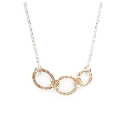 Sterling Silver & Gold-Filled Link Necklace