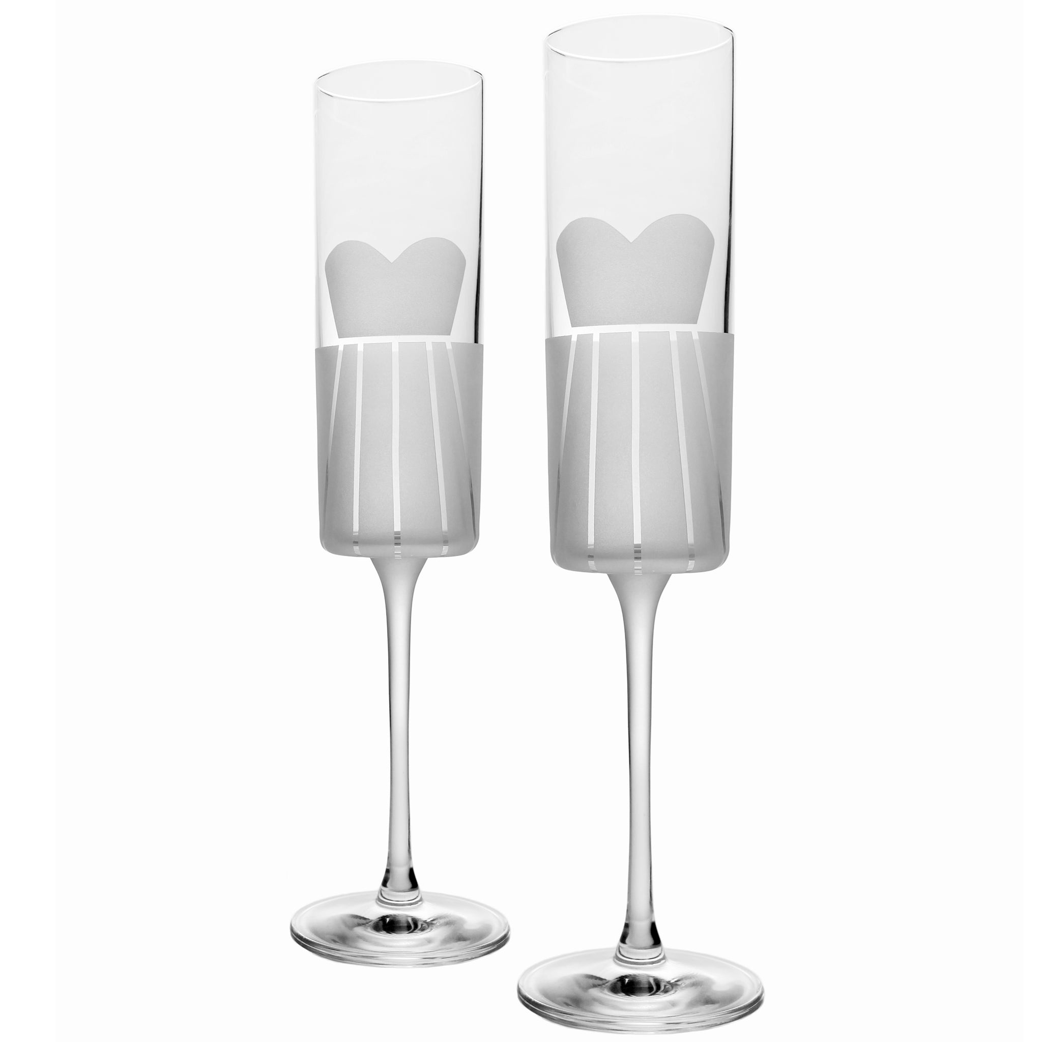 Rolf Glass - Wedding Cheers - Formal Flute 5.75oz - Set of 2 Dresses