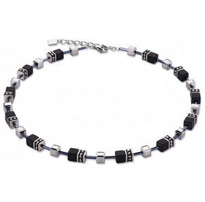 Coeur de Lion Onyx Swarovski® Cubes Necklace