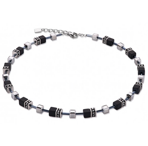 Glass Cube Onyx Swarovski® Cubes Necklace