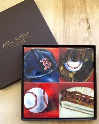 Art by Alyssa Coaster Gift Set - Baseball