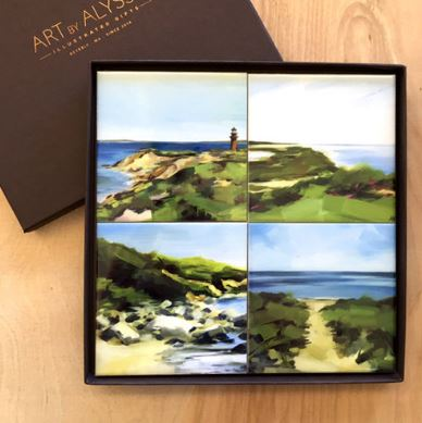 Art by Alyssa Coaster Gift Set - Cape Cod
