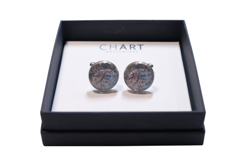 Boston Pewter Cuff Links by Chart Metalworks