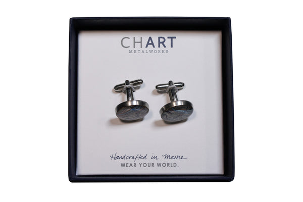 Boston University Pewter Cuff Links by Chart Metalworks