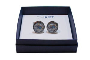 Boston College Pewter Cuff Links by Chart Metalworks