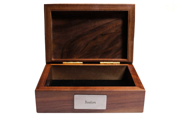 Wood Keepsake Box by Chart Metalworks- Boston