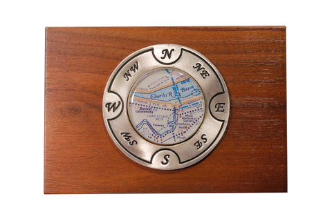 Wood Keepsake Box by Chart Metalworks- Boston University