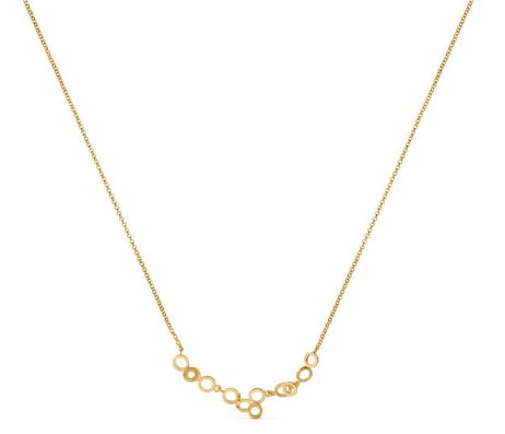 Gold Tone Small Cluster Necklace