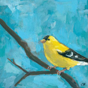 "Print - Goldfinch on Branch 8""x8"""