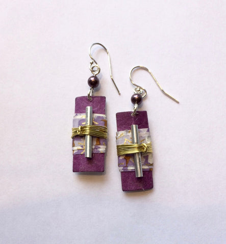 Frog Lavender Dreams Earrings