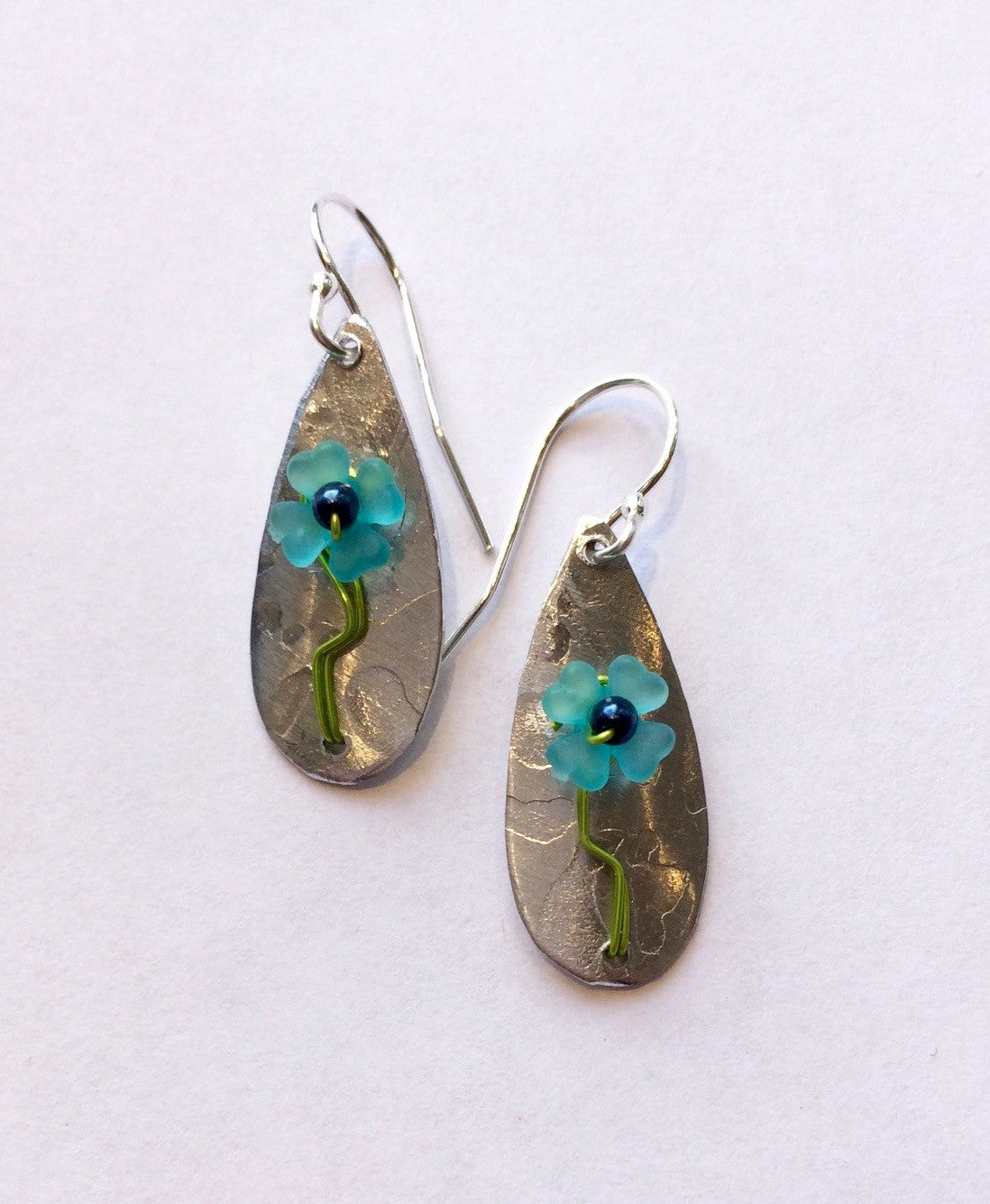 Mixed Metal Paper Whitney Teardrop Earrings