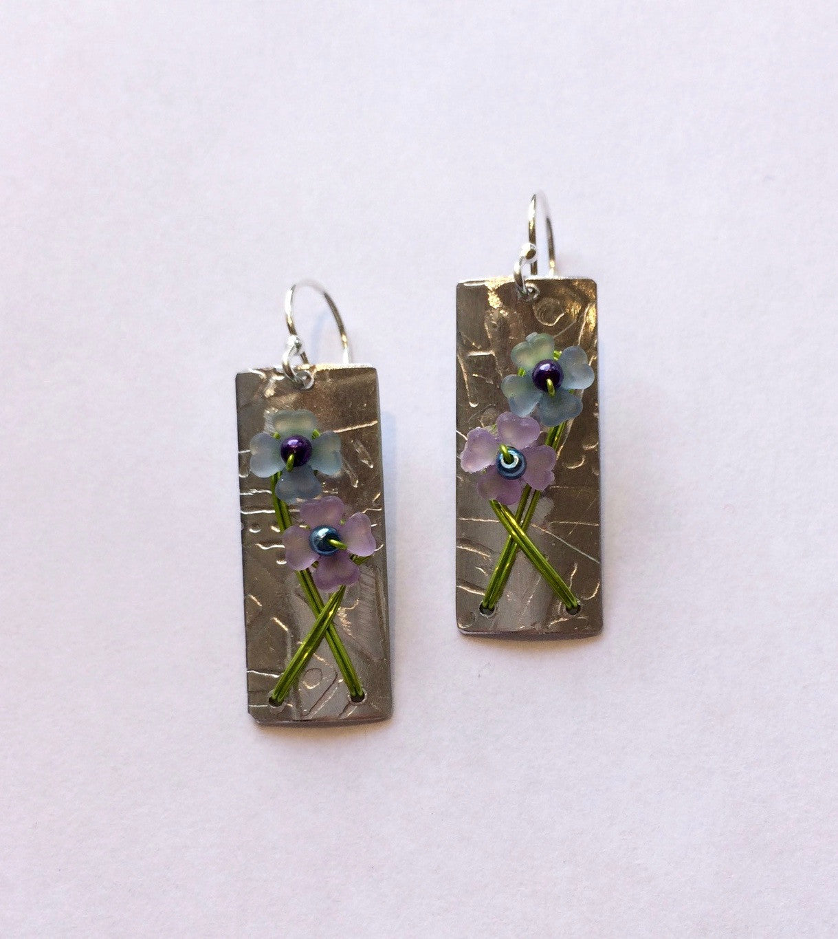 Mixed Metal Paper Whitney Earrings