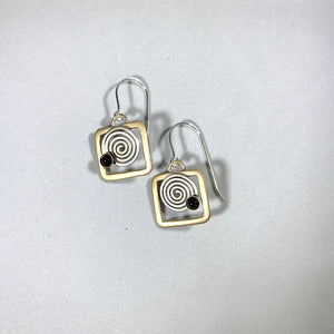 Whitney Silver Starry Night Earrings