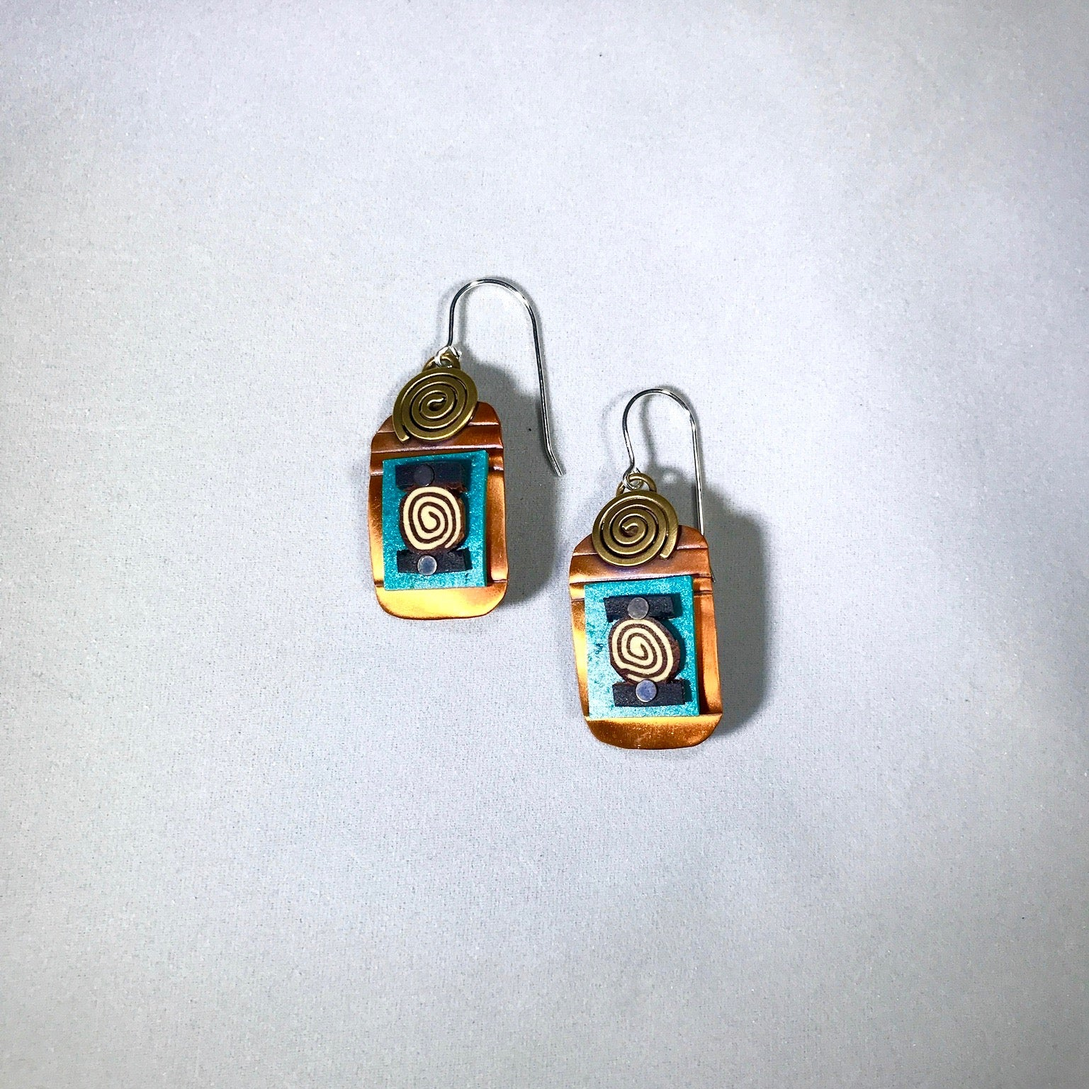 Whitney Rectangle Tapestry Earrings