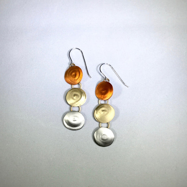 Mixed Metal Shimmers Drop Earring