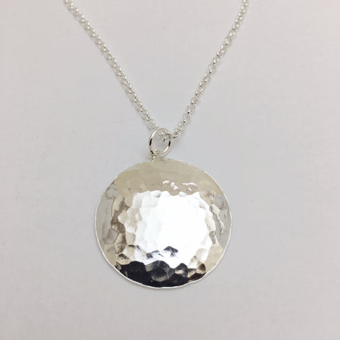 Cristina Pabon Sterling Silver Full Moon Necklace