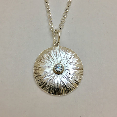 Sterling Silver Small Sunflower Necklace